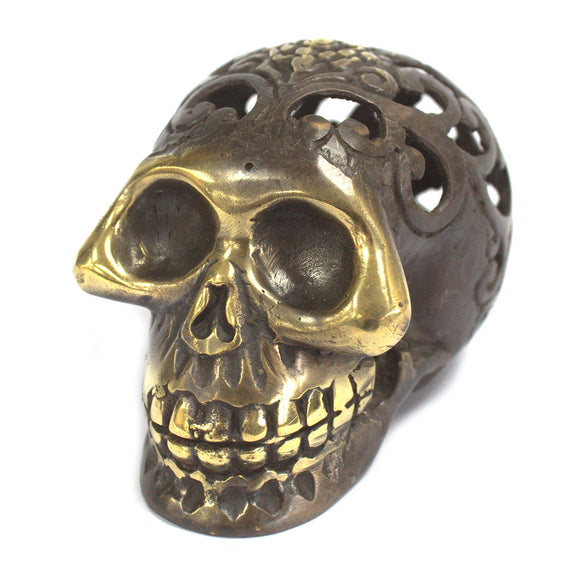 Gifts > Gifts For Her > Vintage Brass Skull - Med