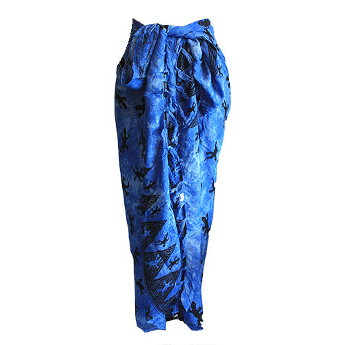 Fashion Accessories > Female Accessories > Sarongs > Bali Gecko Sarong - Blue