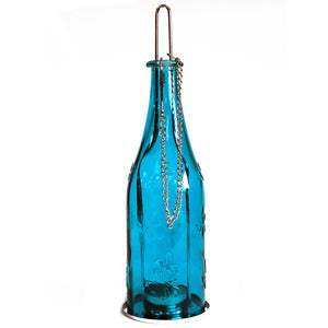 Health & Beauty > Skin Care > Lotions & Potions & Sprays > Recycled Bottle Lantern - Teal