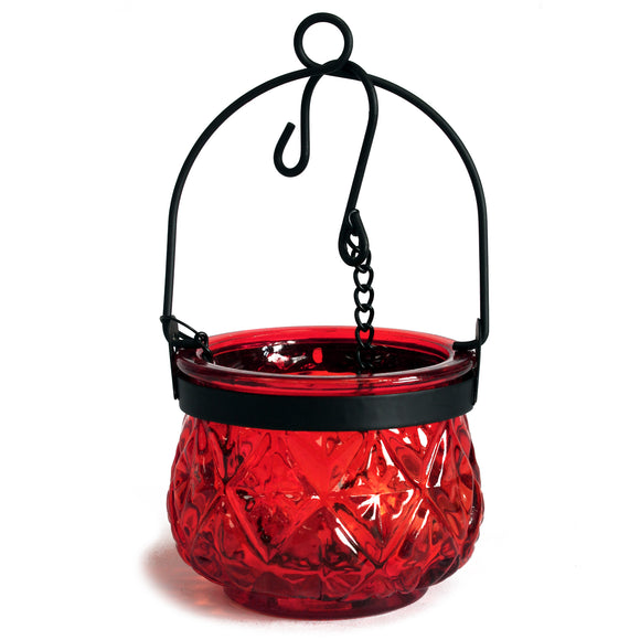 Gifts > Gifts For Her > Moroccan Style Hanging Candle Lantern - Ruby