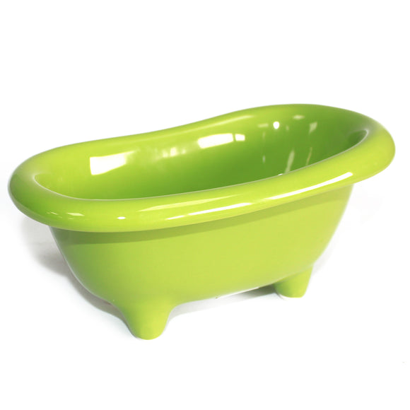 Health & Beauty > Bath > Foot Baths > Ceramic Mini Bath - Green