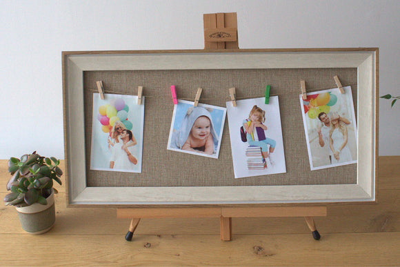 Home > Photos & Paintings > Photo Frames > Med DIY Peg Photo Frames (30x60cm)- Natural Jute