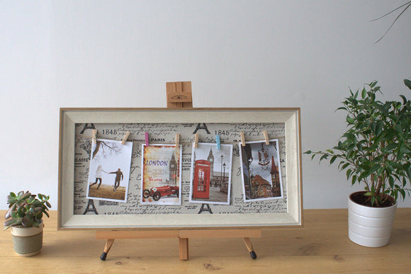 Home > Photos & Paintings > Photo Frames > Med DIY Peg Photo Frames (30x60cm)- Paris