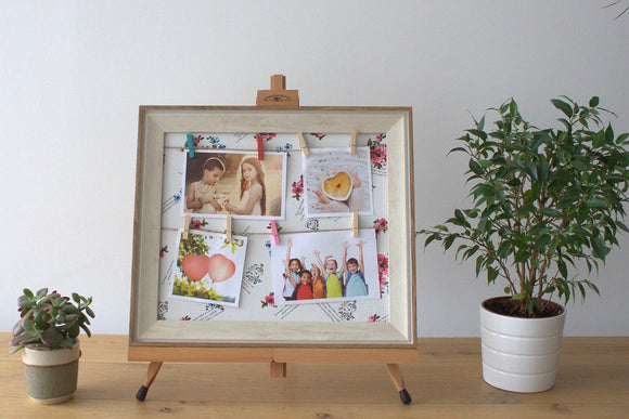 Home > Photos & Paintings > Photo Frames > Small DIY Peg Photo Frames (30x40cm)- Floral