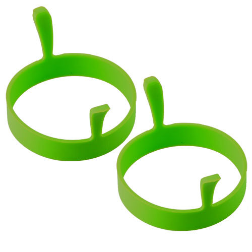 Kitchen > Kitchen Gadgets > Egg Rings > 2x Silicone Egg Ring - Green