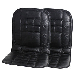 Komodo 2 x Orthopaedic Leather Car Seat Covers - Black