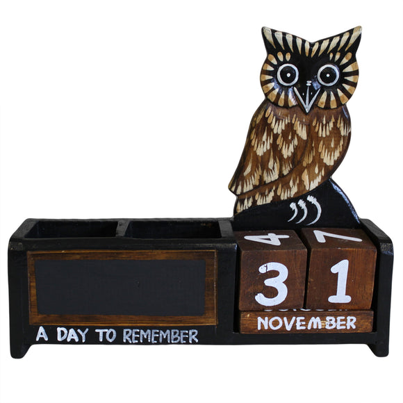 Office & Stationery > Stationery > Pen Holders > Day to Remember pen holder - Brown Owl