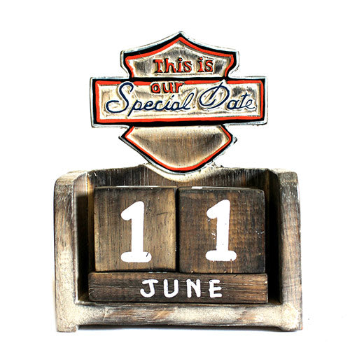 Home > Home Décor > Signs & Plaques > Day to Remember Calender - This is Our Special Date - carved sign