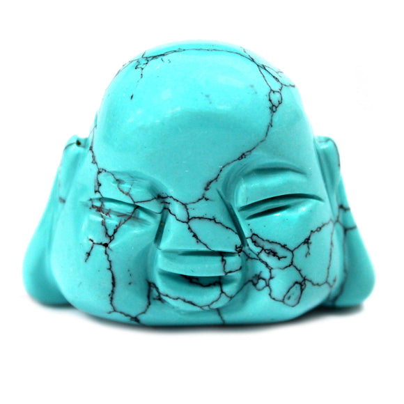 Home > Home Décor > Gems & Stones > Gemstone Buddha Head - Turquoise