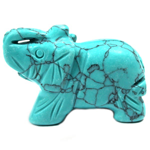 Home > Home Décor > Gems & Stones > Gemstone Elephant -Turquoise