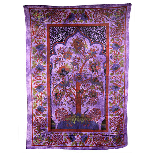 Home > Photos & Paintings > Wall Art > Tree of Life - Purple Bedspread / Wall Art