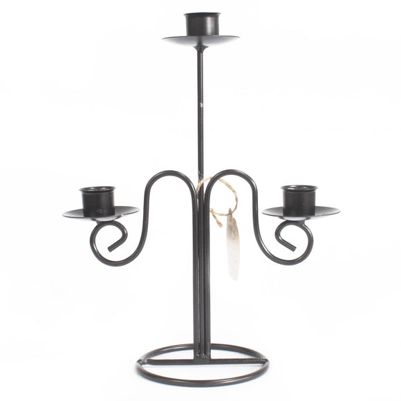 Gifts > Gifts For Her > Iron Candle Holder - Tri Stick Elegant