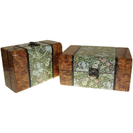 Home > Home Décor > Boxes > Set of 2 Boxes - Med Walnut Floral