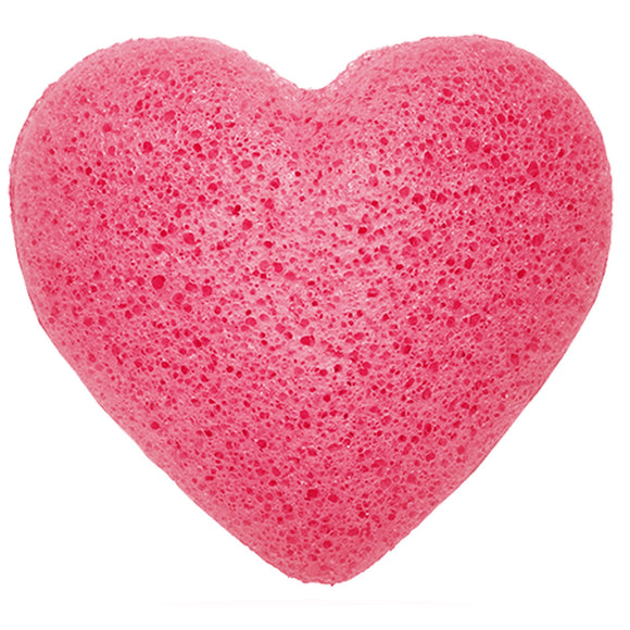 Health & Beauty > Bath > Sponges > Japanese Konjac Heart Sponge - Rose