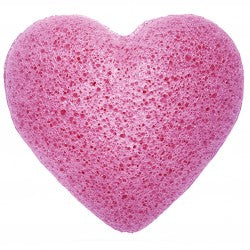Health & Beauty > Bath > Sponges > Japanese Konjac Heart Sponge - Lavender
