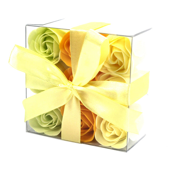Gifts > Gifts For Her > 1x Set of 9 Soap Flowers- Spring Roses