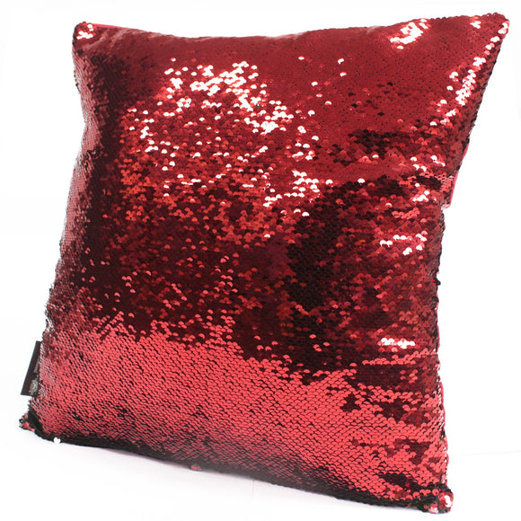 Occasions > Christmas > Christmas > 2x Mermaid Cushion Covers - Christmas Red & Green