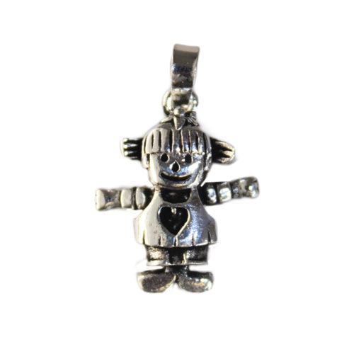 Gifts > Gifts For Babies > Silver Baby Girl Pendant