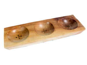 Gifts > Gifts For Her > Three Bay Mahogany Soap Dish