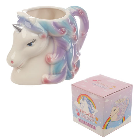 Gifts > Gifts For Her > Enchanted Rainbows Unicorn Head Mug