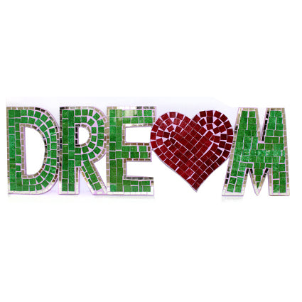 Home > Bedroom > Dream Catchers > Mosaic Word - Dream (with heart)