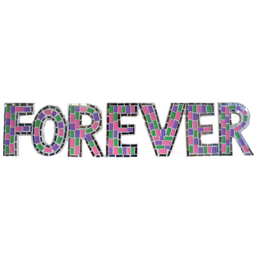 Home > Home Décor > Signs & Plaques > Mosaic  - Forever - Multi