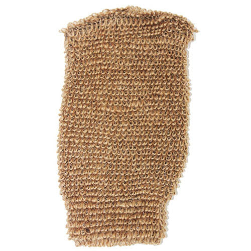 Health & Beauty > Bath > Sponges > Snug Jute Mitt - Brown