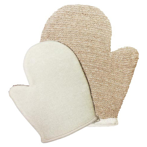 Health & Beauty > Bath > Sponges > Snug Jute Mix Mitt - Brown