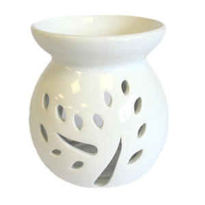 Home > Candles & Incense > Oil Burners > Lrg Classic White Oil Burner - Tree Cut-out