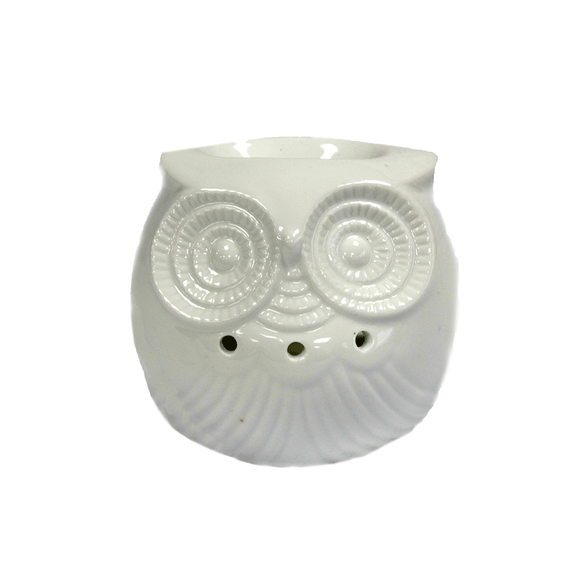 Home > Candles & Incense > Oil Burners > Classic White Oil Burner - Short Owl