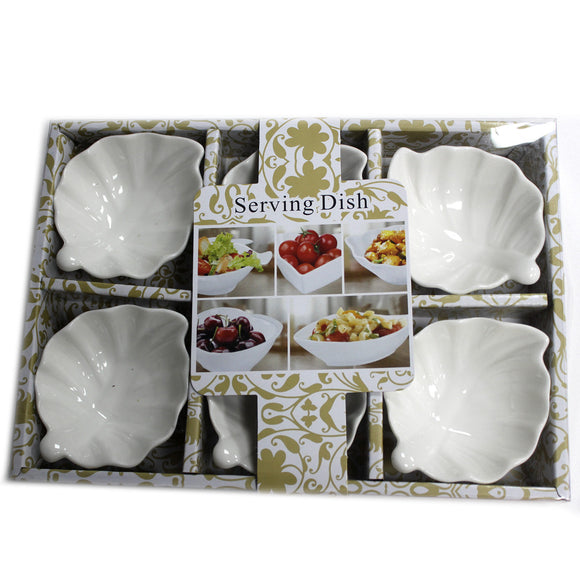 Kitchen > Tableware > Dishes > Set of Six Leaf Shape Olive Dishes