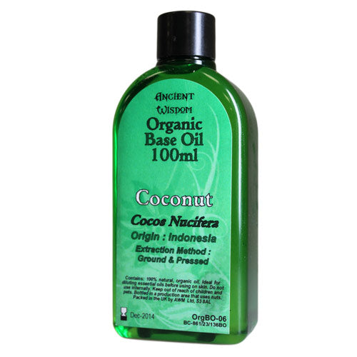 Health & Beauty > Skin Care > Lotions & Potions & Sprays > Coconut 100ml Organic Base Oil