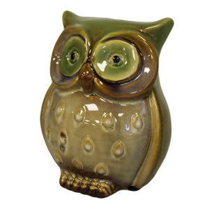 Gifts > Gifts For Her > Ceramic Owl Bank - Green