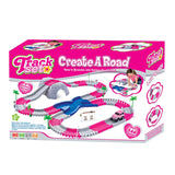 Gifts > Gifts for Children > 144 Piece Pink Toy Car Track Set