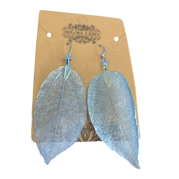 Jewellery > Earrings > Earrings > Earrings - Bravery Leaf - Blue