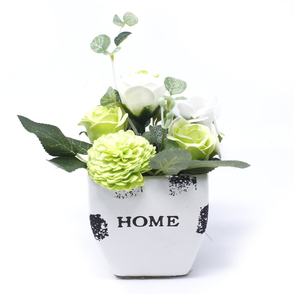 Home > Home Décor > Flowers > Bouquet Petite Flower Pot - Pastel Green
