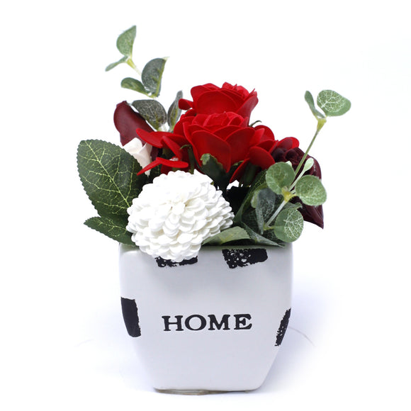 Home > Home Décor > Flowers > Bouquet Petite Flower Pot - Rich Reds