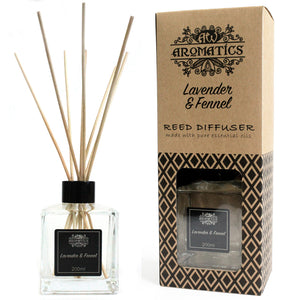 Health & Beauty > Skin Care > Lotions & Potions & Sprays > 200ml Lavender & Fennel Essential Oil Reed Diffuser