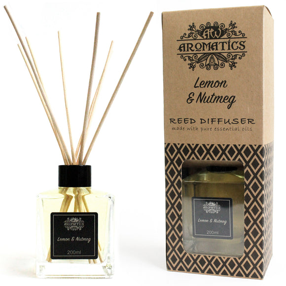 Health & Beauty > Skin Care > Lotions & Potions & Sprays > 200ml Lemon & Nutmeg Essential Oil Reed Diffuser