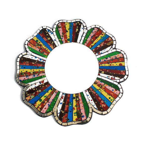 Home > Home Décor > Mirrors > 2x Rainbow Mosaic Mirror - 30cm