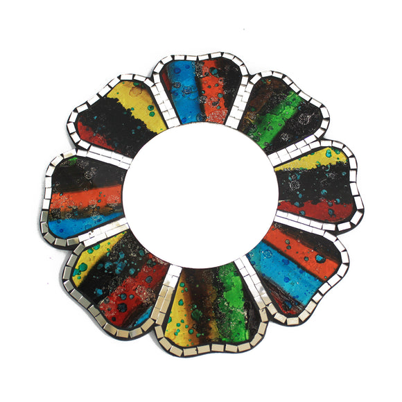 Home > Home Décor > Mirrors > 2x Four Colours Mosaic Mirror - 30cm