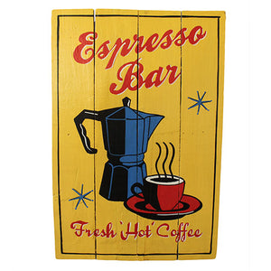 Home > Home Décor > Signs & Plaques > Rough Wooden Sign - Espresso Bar