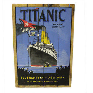 Home > Home Décor > Signs & Plaques > Rough Wooden Signs - Titanic