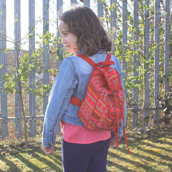 Fashion Accessories > Bags & Backpacks > Backpacks > Small Nepali Backpacks - Pink