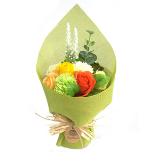 Gifts > Gifts For Her > Standing Soap Flower Bouquet - Green Yellow