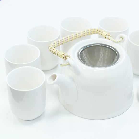 Gifts > Gifts For Her > Herbal Teapot Set - Classic White