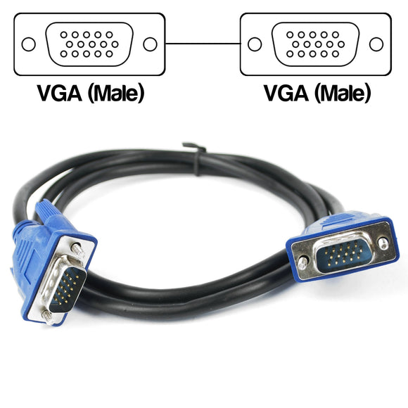 1 Metre VGA Male to Male Cable