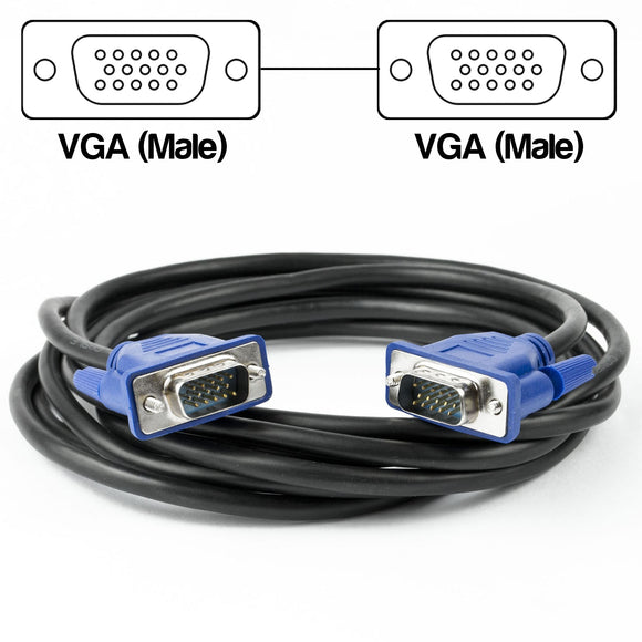 3 Metre VGA Male to Male Cable