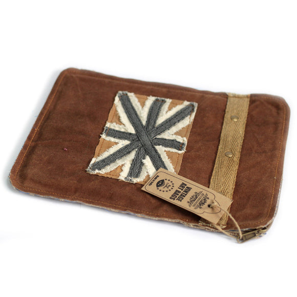 Fashion Accessories > Bags & Backpacks > Pouches > Vintage Bag - Tablet Pouch-Shabby Flag