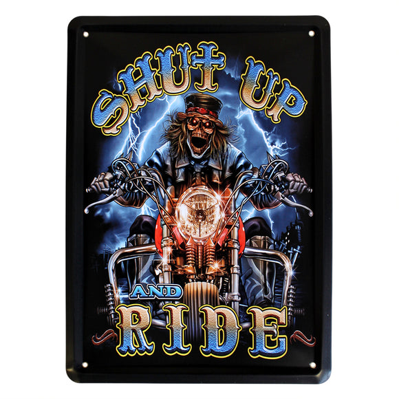 Home > Home Décor > Signs & Plaques > Metal Plaque - Shut-up & Ride